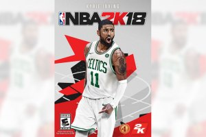 NBA 2K18 Cover With Kyrie Irving in Boston Celtics Uniform