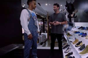 Lewis Hamilton Goes Sneaker Shopping in L.A.