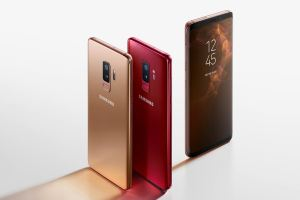 Samsung Galaxy S9 Sunrise Gold Burgundy Red