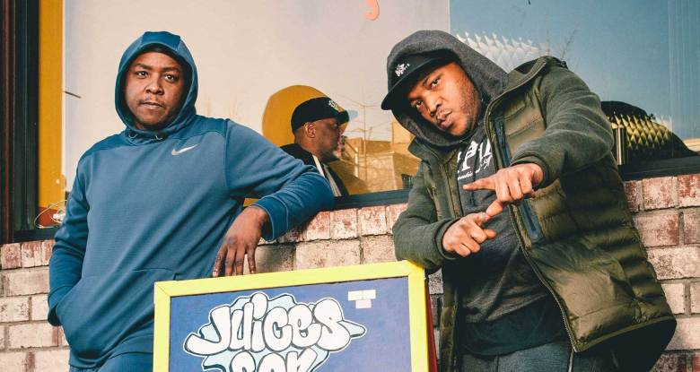 Styles P and Jadakiss at Juices For Life