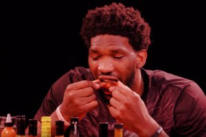 Joel Embiid on Hot Ones