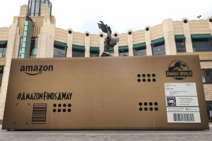 Amazon Jurassic World Largest Delivery in Company History