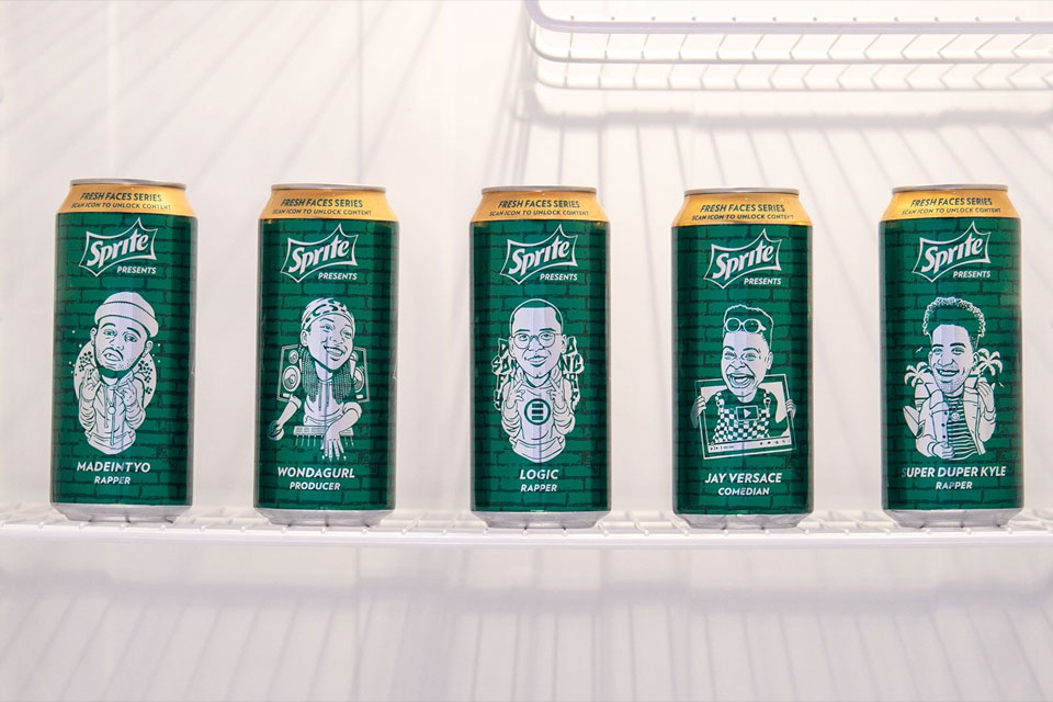 Sprite The Fresh Faces Series cans