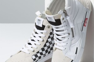 Deconstructed Vans SK8-Hi Reissue CAP 'True White/Black'