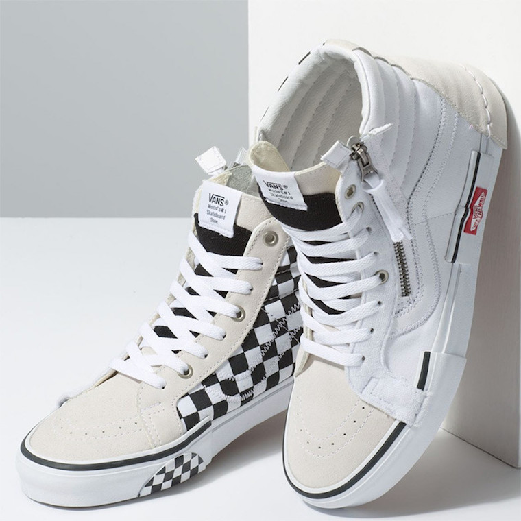 192d62bc57 Check Out the Deconstructed Vans SK8-Hi Reissue CAP in  True White Black