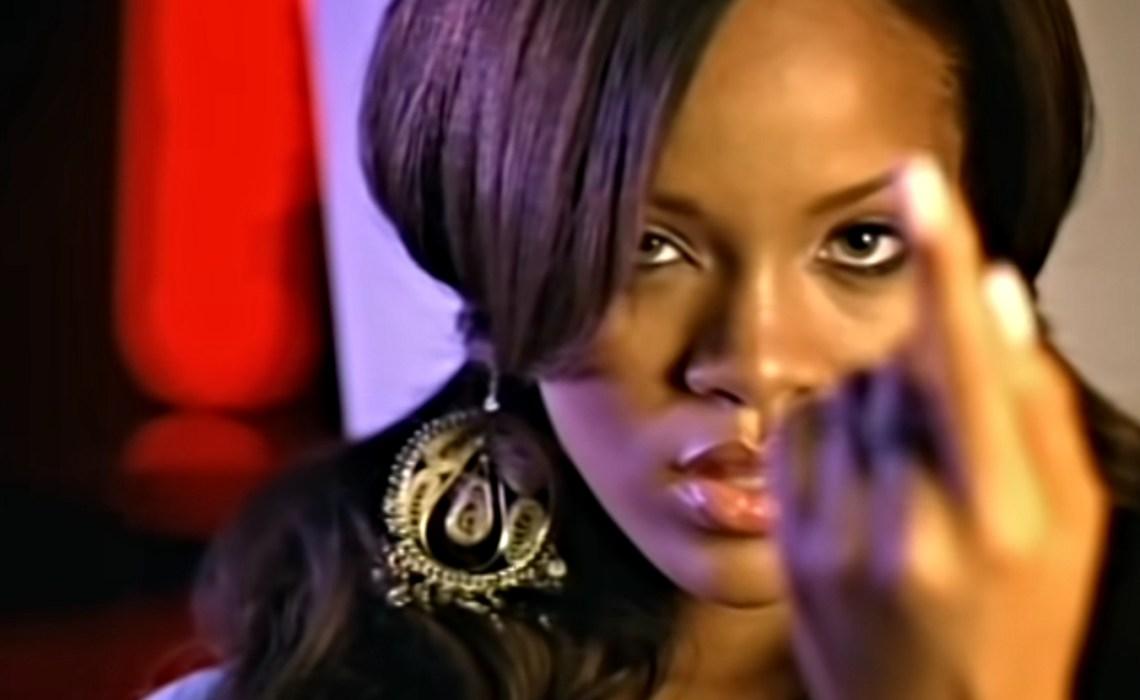 young rihanna in pon de replay music video, very natural makeup
