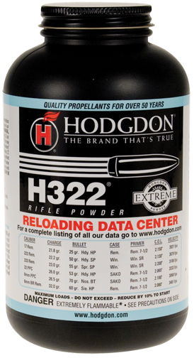 Hodgdon H322 Extreme Rifle Powder 1 Ballisticproducts Com