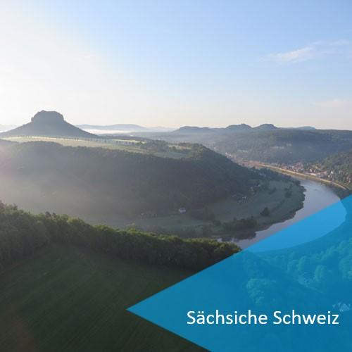 Ballonfahrt in der Sächsischen Schweiz und Pirna