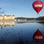 Rewe Ballon von Dresden nach Moritzburg über das Schloss Moritzburg