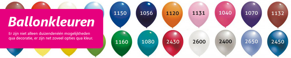 Ballondecoratie - Ballonkleuren