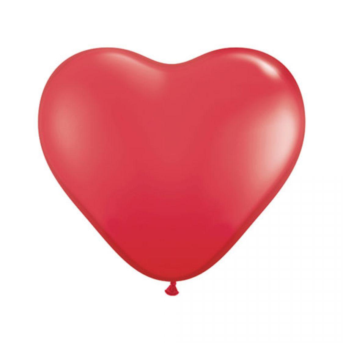 Descriptif Ballon Coeur Rouge Red
