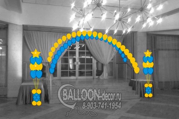Макет для украшения воздушными шарами - макеты и эскизы ...