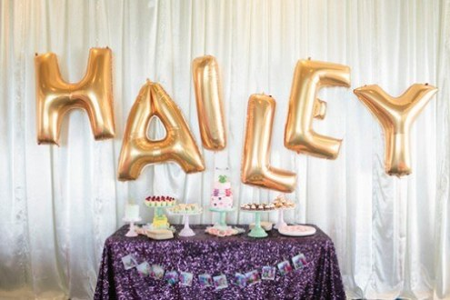 How to Arrange Balloon Letters   DIY Balloon Decoration Guide Balloon Letters Suspended from Ceiling