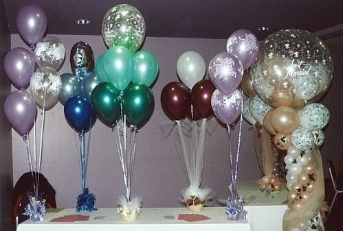 Wedding Reception Balloon Decorations On With Balloons Fresh Amp Silk Flowers Pew End Bows