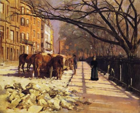 Theodore_Robinson_-_Beacon_Street,_Boston