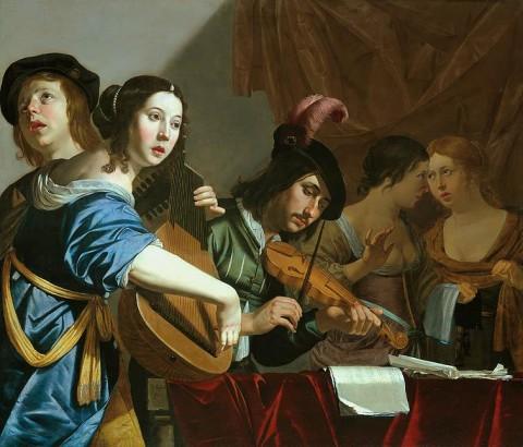 Jan_van_Bijlert_-_Musical_Company_-_WGA02182