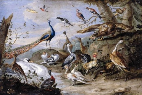 Jan_van_Kessel_(I)_-_Birds_on_a_Riverbank_-_WGA12131