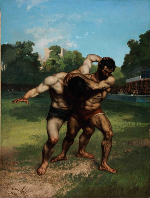 Gustave_Courbet_-_The_Wrestlers_-_Google_Art_Project