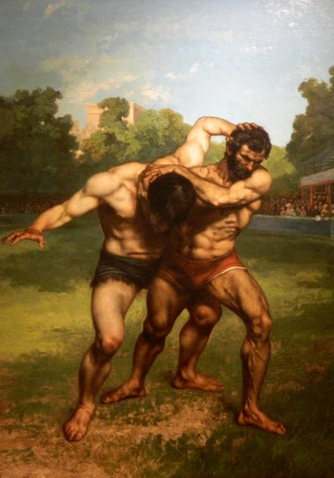 Gustave_Courbet_-_Wrestlers