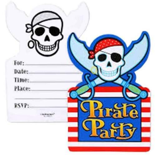 Προσκλήσεις για πάρτυ Πειρατές (6 τεμ)
