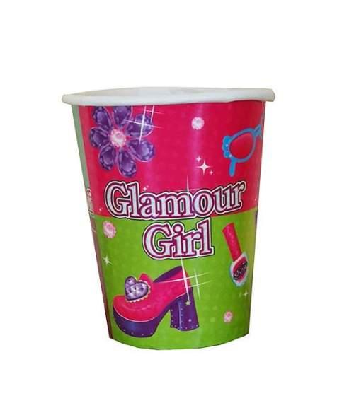 Ποτήρια πάρτυ χάρτινα glamour girl (8 τεμ)