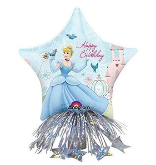 Μπαλόνι αστέρι Σταχτοπούτα Disney με βαρίδιο & κορδέλες