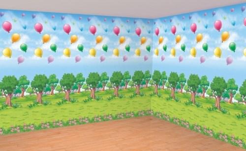 Ταπετσαρία τοίχου Winnie the Pooh Δάσος (2 τεμ)