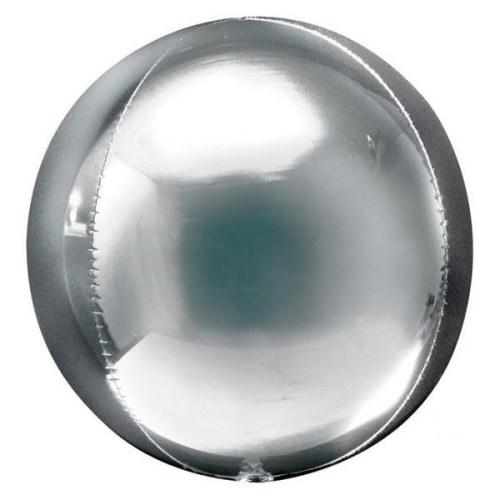 Μπαλόνι τρισδιάστατο Ασημί ORBZ