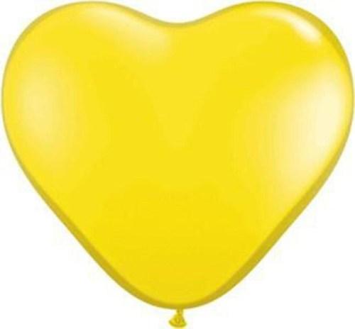 Μπαλόνι μεγάλη κίτρινη καρδιά