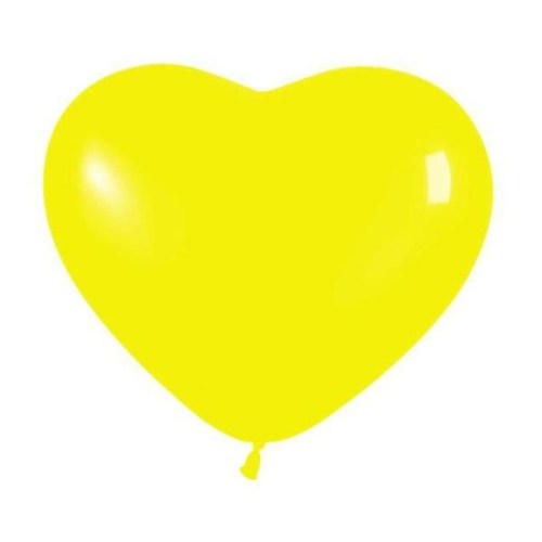 Μπαλόνι μικρό κίτρινη καρδιά