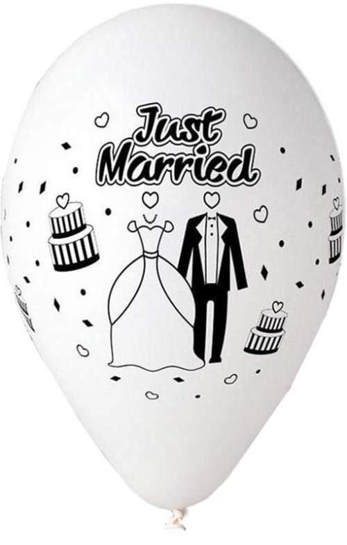 Μπαλόνι τυπωμένο γάμου λευκό Just Married
