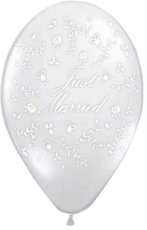 Μπαλόνι τυπωμένο γάμου διάφανο Just Married