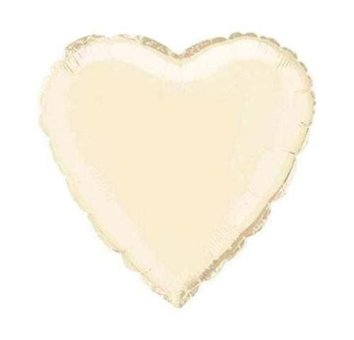 """Μπαλόνι καρδιά 18"""" Ιβουάρ"""