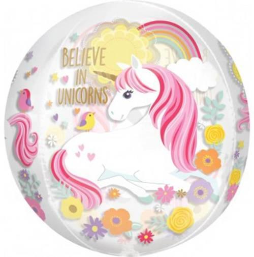 Μπαλόνι στρογγυλό Believe in Unicorns ORBZ