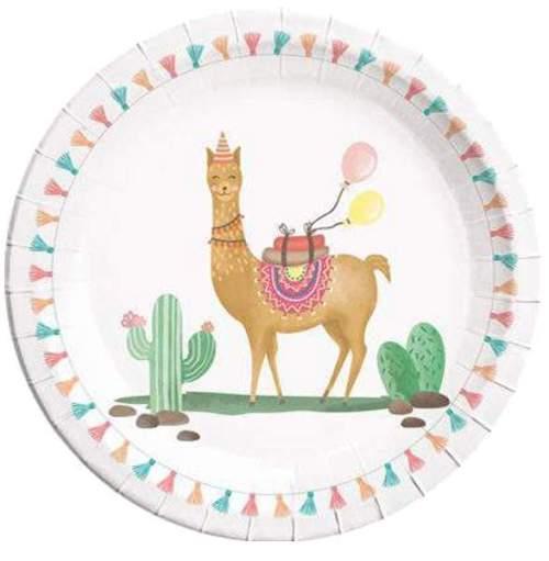 Πιάτα πάρτυ μεγάλα λάμα & κάκτος (8 τεμ)