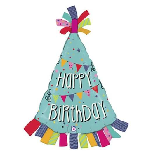 Μπαλόνι γενεθλίων Καπέλο 'Happy Birthday'