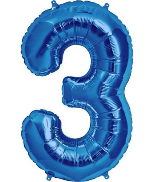 Τεράστιο Μπαλόνι 100 εκ Μπλε Αριθμός 3