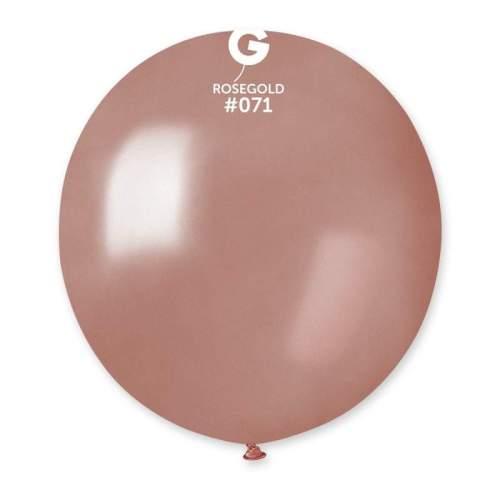 48cm - 19'' Ροζ-Χρυσό μεγάλο μπαλόνι