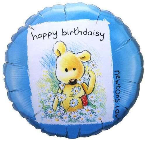 Μπαλόνι Happy Birthdaisy με αρκουδάκι