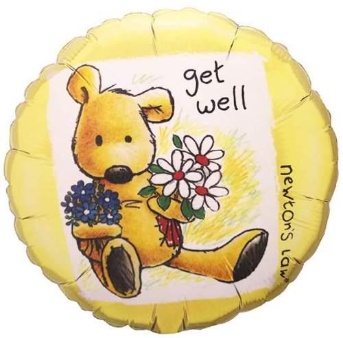 Μπαλόνι Get Well με αρκουδάκι