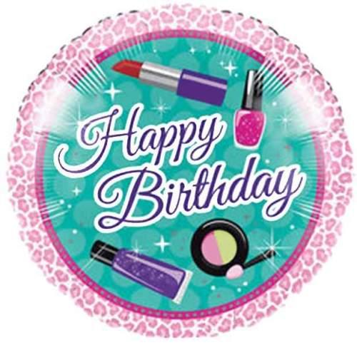 Μπαλόνι για γενέθλια 'Happy Birthday' καλλυντικά