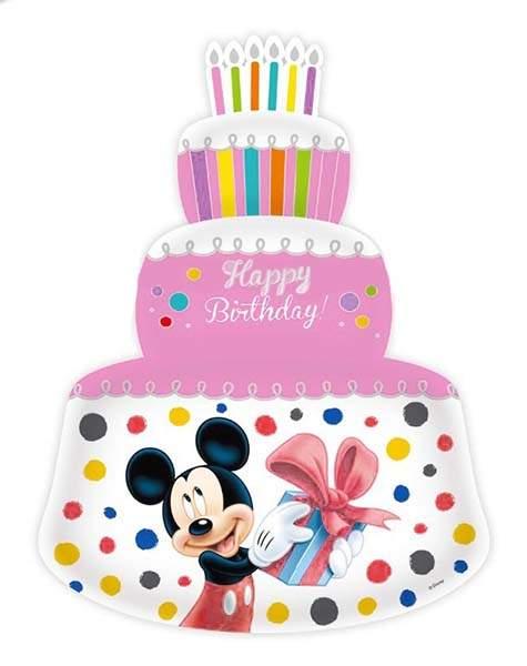 Μπαλόνι ροζ τούρτα Mickey & Minnie Mouse