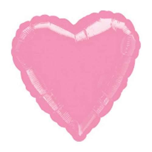"""Μπαλόνι καρδια 18"""" Μεταλλικό Ροζ"""
