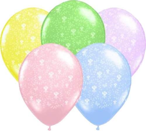 Μπαλόνι τυπωμένο Λουλούδια σε παστέλ χρώματα