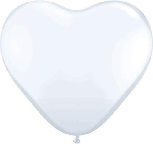 Μπαλόνι μεγάλη άσπρη καρδιά