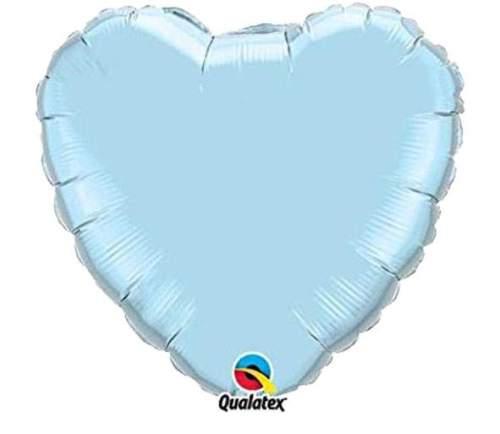 """Μπαλόνι καρδια 18"""" Περλέ γαλάζιο"""