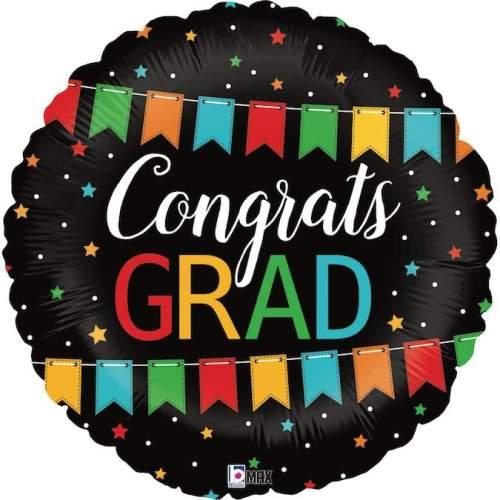 Μπαλόνι για αποφοίτηση Congrats Grad μπάνερ