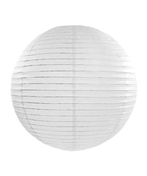Λευκό μεγάλο διακοσμητικό χάρτινο φαναράκι
