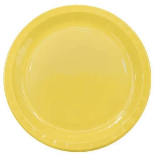 Πιάτα πάρτυ μεγάλα κίτρινα (8 τεμ)