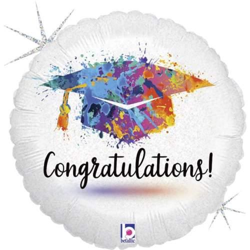 Μπαλόνι για αποφοίτηση Congratulations με γκλίτερ